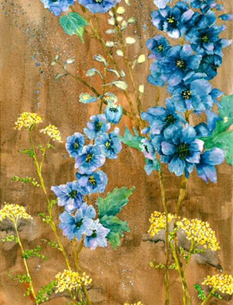 delphiniums and friends